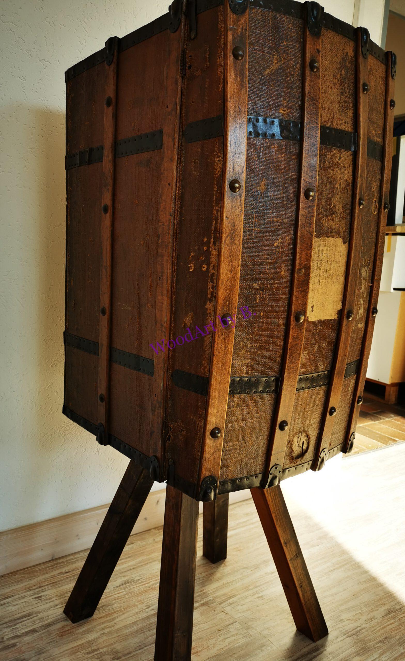 Reisekoffer als Weinschrank