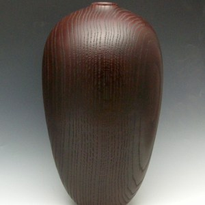 Burgundy Oak Vessel
