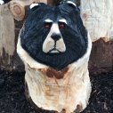 bear wood carving woodbank nurseries