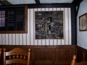 black wooden panel