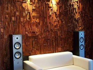 acoustic treatment, acoustic wall, home theatre, music room, audio room, sound diffusers, wood acoustic, wood sound diffusers