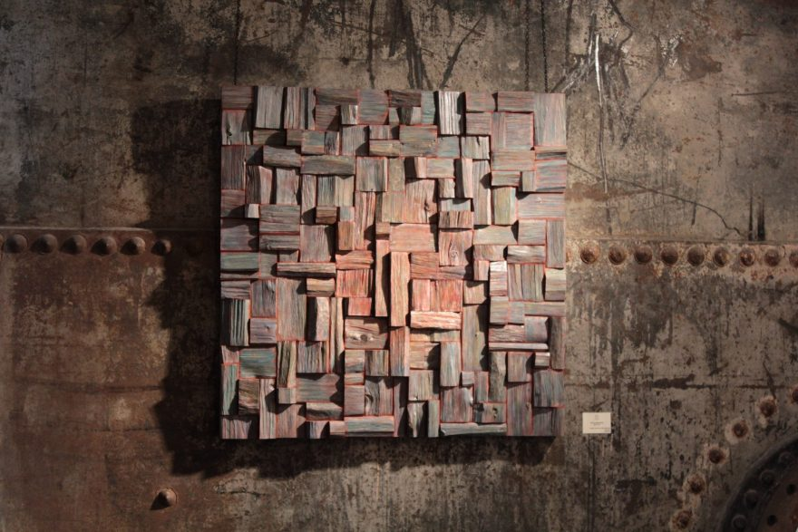 corporate art, wood art, wood assemblage, interior design, industrial design, loft ideas, olga oreshyna art, urban design, contemporary wood art, wood wall sculpture
