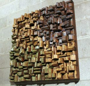 wood art sound diffuser, wood art acoustic panel, acoustic treatment, corporate art, office art acoustic, home theatre acoustic,
