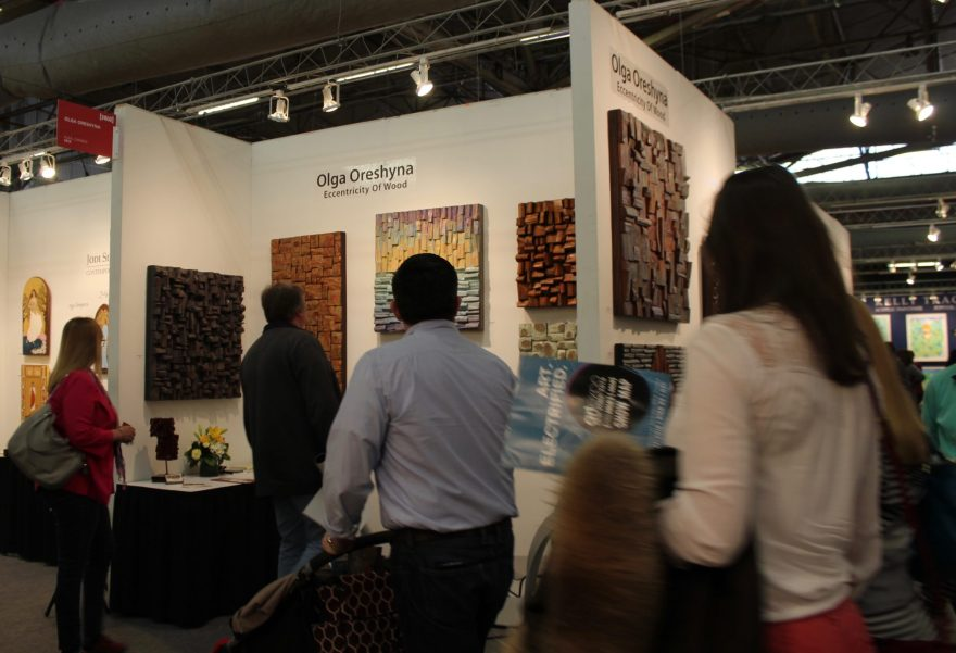 Original artwork by Canadian artist Olga Oreshyna was on display at Artexpo NY