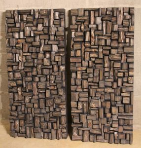 wood sound diffusers, acoustic treatment, wood art acoustic panels, wood acoustic diffusers, wood wall art, office acoustic treatment, conference room acoustic treatment