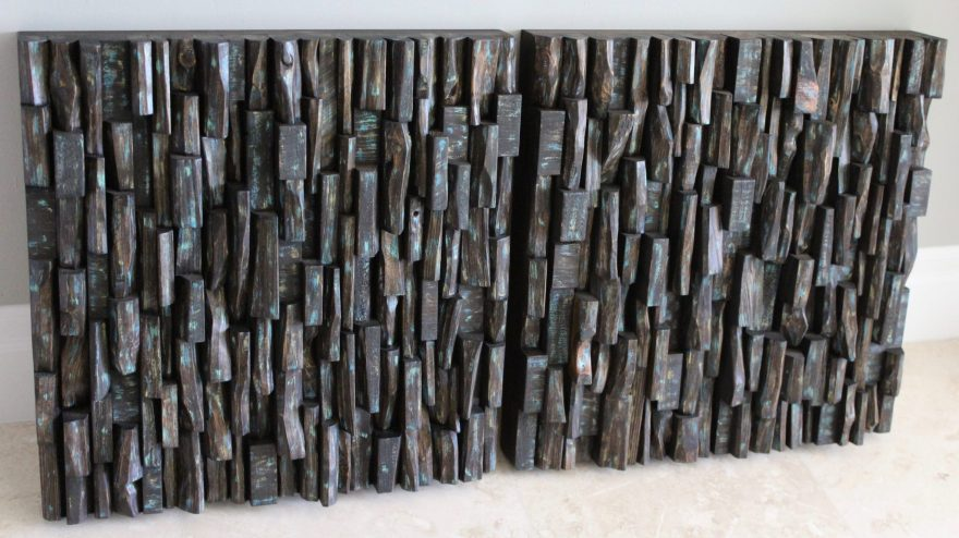 Recycled Wood Art Acoustic panels, a unique and innovative sustainable design will add a bit of nature to your space while improving sound performance
