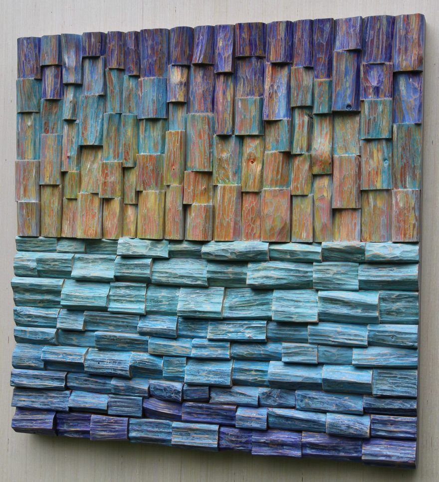 Contemporary wall art, uplifting abstract composition that spikes the imagination in extraordinary way, pleases the eyes and adds texture to the wall.