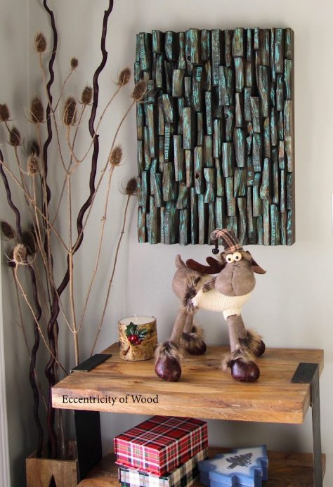 One of a kind recycled wood art will add a bit of nature to your space and life to your walls, add texture and please the eye, creating a warm, rich environment with an earthy touch.