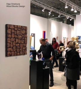 Olga Oreshyna wood art represented by Maria Elena Kravetz gallery at SOFA EXPO Chicago
