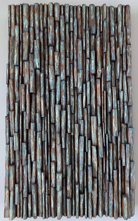 abstract wood wall sculpture, organic modern style
