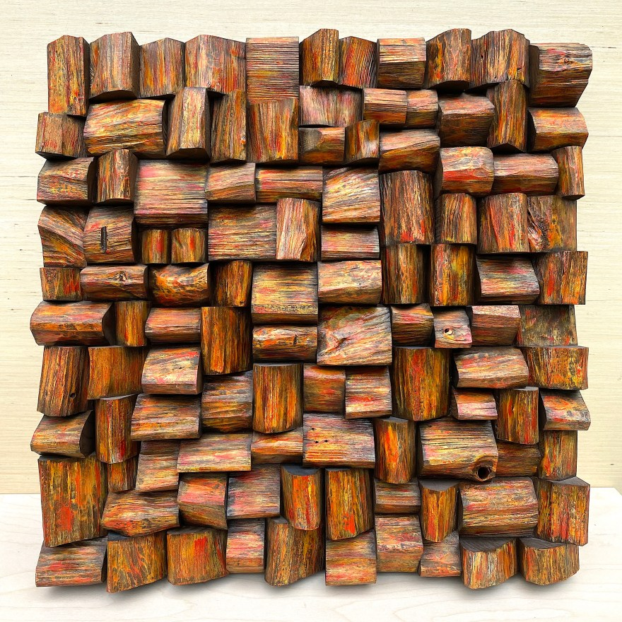 contemporary wood wall sculpture
