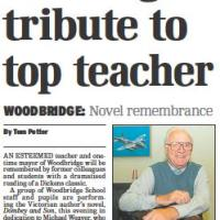 Reading in tribute to top teacher