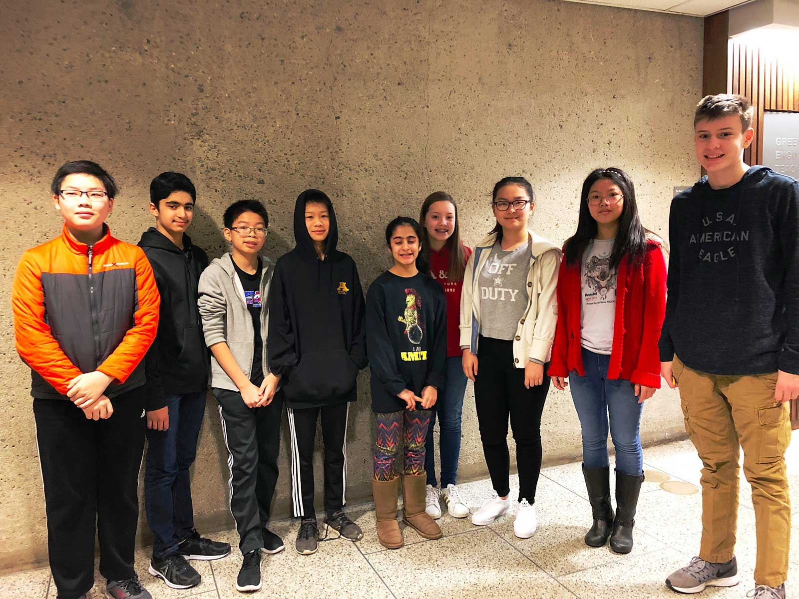 Amity Middle School Bethany Math Counts Chapter Competition