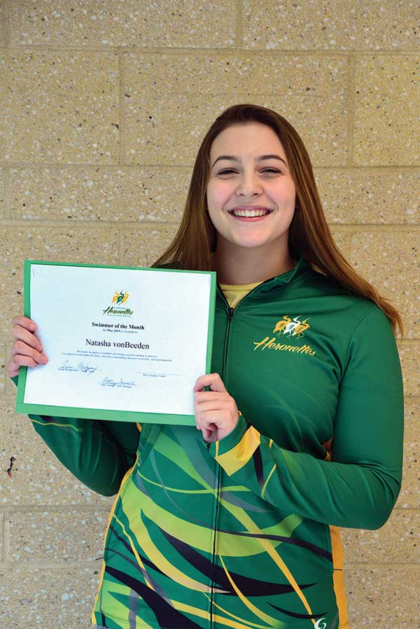 Heronettes Announce May Swimmer Of The Month