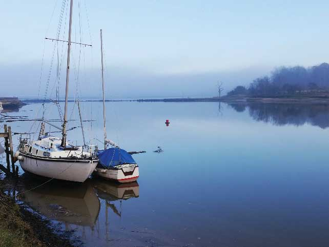 Some Views of Woodbridge Along the River