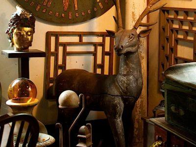 Clock and Sculptures