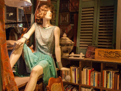 Female Mannequin on Books