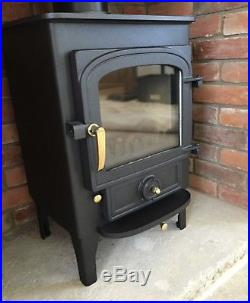 Clearview Pioneer Wood Burning Stove With Mosaic Tile Hearth I Would Put Slots In It For Tho