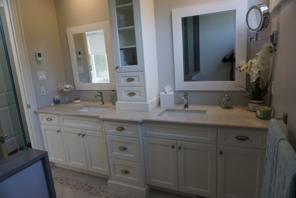 double vanity marble bathroom