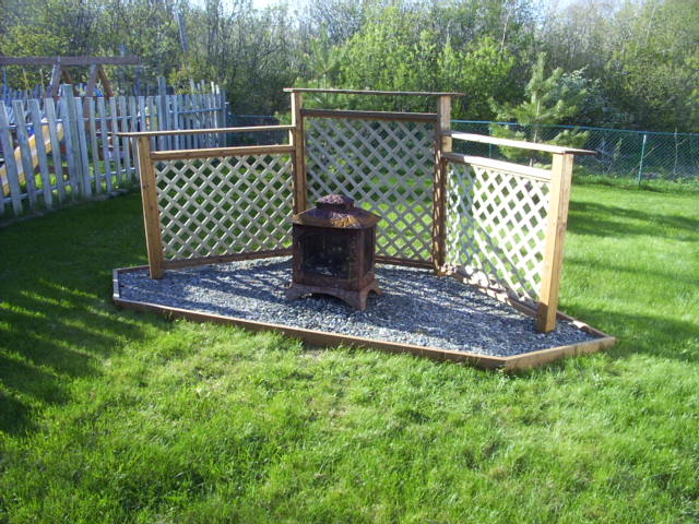 Completed fire pit.