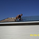 VicWest metal roof installation