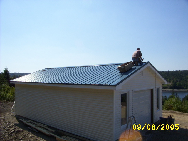 VicWest roof installation