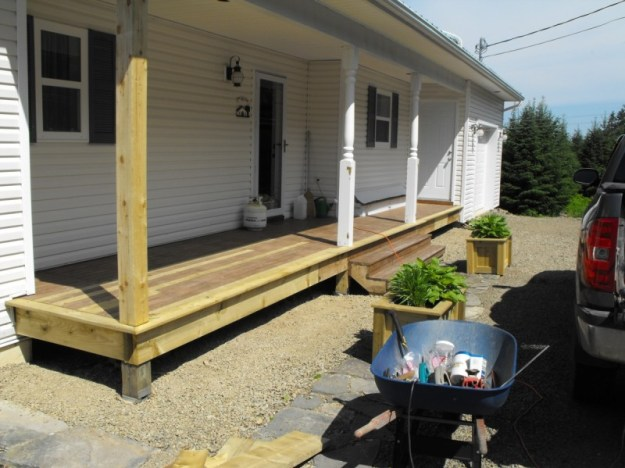 Deck repaired.