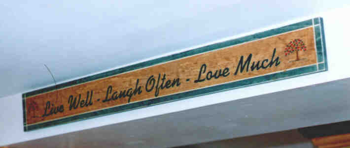 Sign - Live Well Laugh Often Love Much