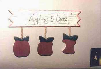 Apple sign craft woodworking project.