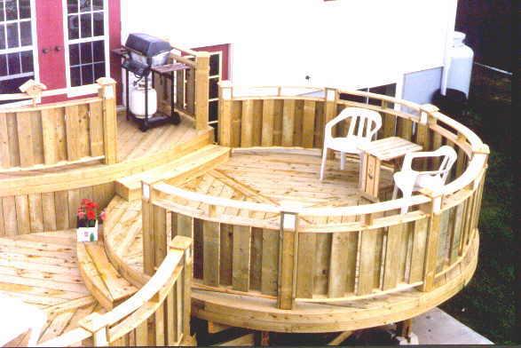 Build a round deck.