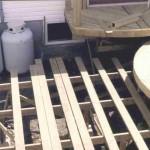 Constructing a circular deck.