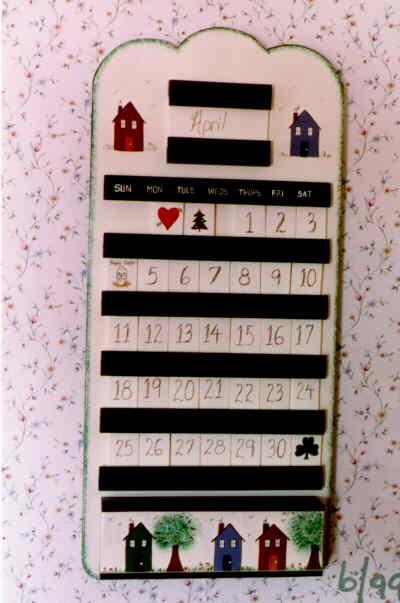 Craft project perpetual calendar