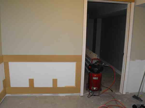 Wainscoting and woodworking.