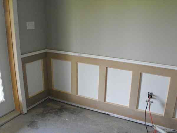 Build your own wainscoting.