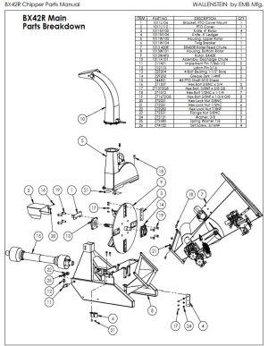 used Wallenstein BX42R wood chipper – WoodchuckCanuck