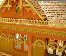 painted Victorian Dollhouse