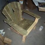Scrap wood Adirondack chair