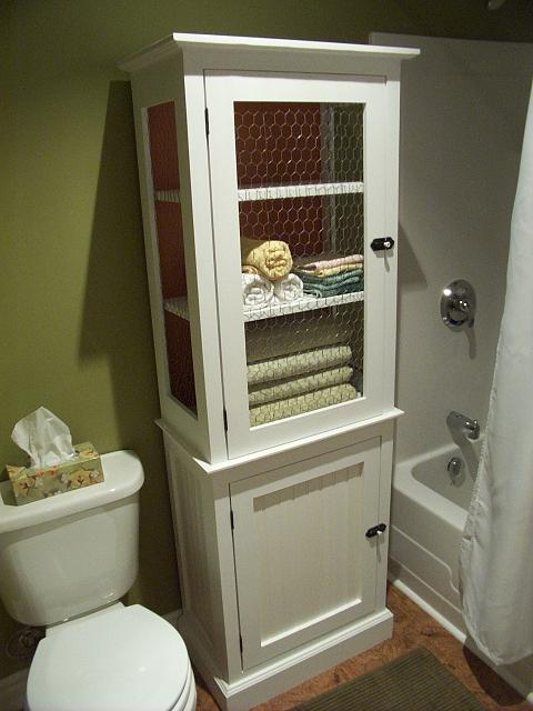 Bathroom cabinet country style