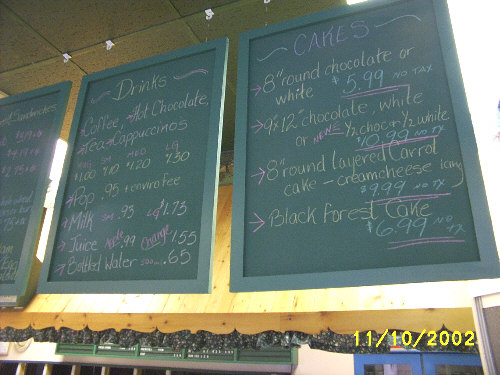 Custom chalk menu boards.