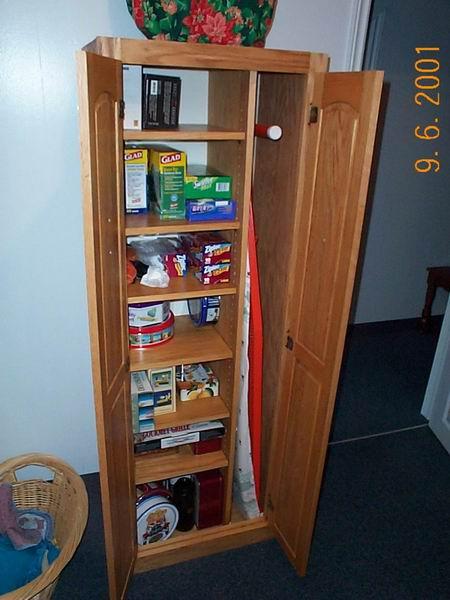 Storage cabinet.