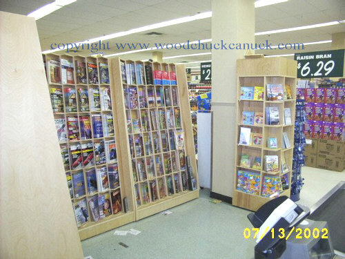 Retail Display Side Load Magazine Cabinets.