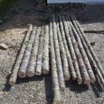 Rails cut on the property.