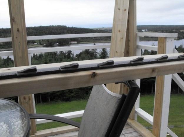Sunroom deck construction 7