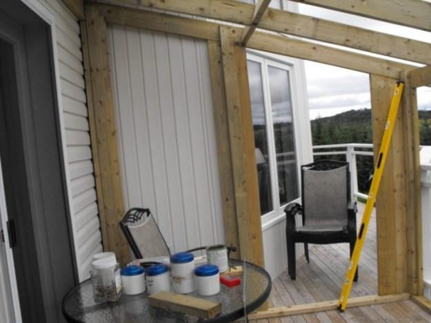 Sunroom deck construction 15