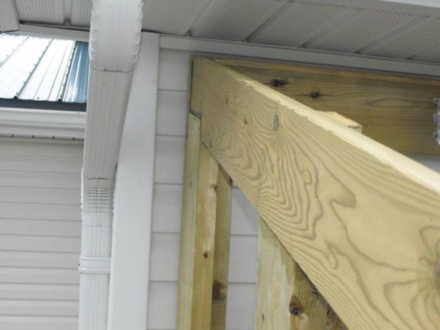 Sunroom deck construction 22
