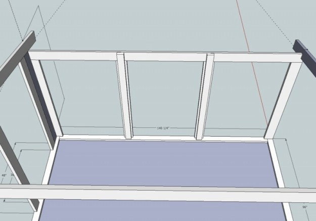 Sunroom Sketchup drawing 8
