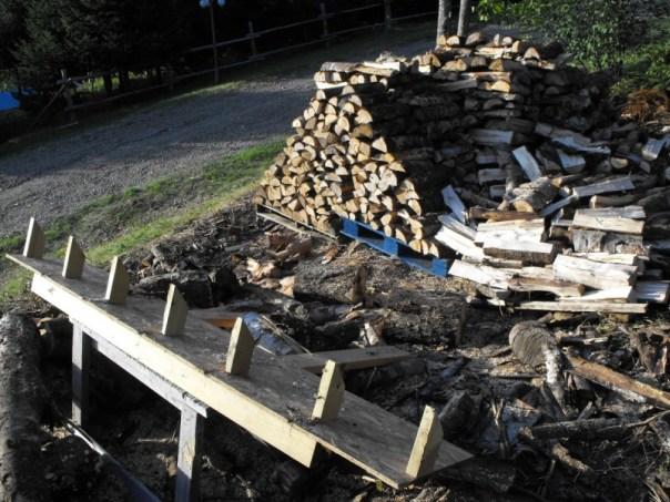 Bucking firewood