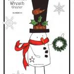 49-MB014 - Snowman Wreath Holder
