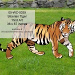 Siberian Tiger woodworking yard art pattern plan