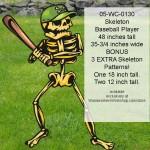 Baseball Player Skeleton,woodworking plans,projects,Halloween yard art